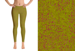 leggings - olive - zen style - front view with swatch – ColorUpLife