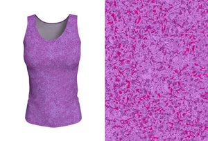 fitted tank - plum - zen style - front view with swatch - ColorUpLife