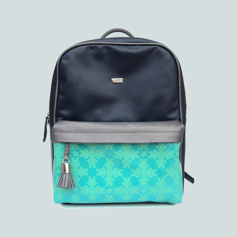 Backpack Leather Navy Blue - Axcan
