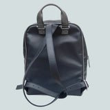 Handmade Leather Backpack Navy Blue Laptop