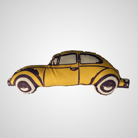 Decorative Pillow VW Beetle Yellow