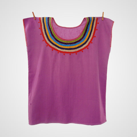 Blouse Mexican Handmade Collar Pink