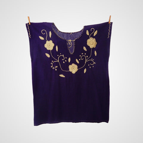 Blouse Mexican Handmade - Purple