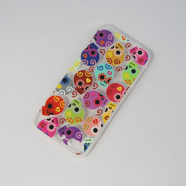 "Mobile Cover Colorful ""Calaverita de azucar"" Sugar Skull Profile Design,  Its design is inspired in the traditional Calaverita de Azucar or sugar skull that is placed in a death altar in the Dia de los Muertos or Day of the Death is celebrated in Mexico. If you like The Coco Pixar Movie you'll like this."