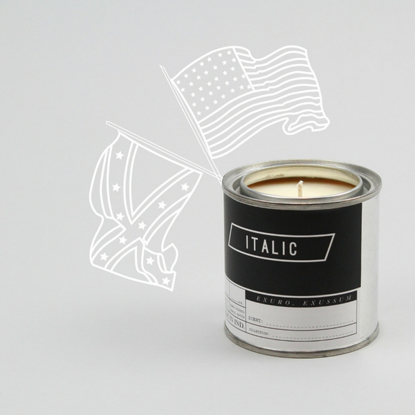 Soy Candle Half Pint 8oz Civil War - Tobacco, Clove