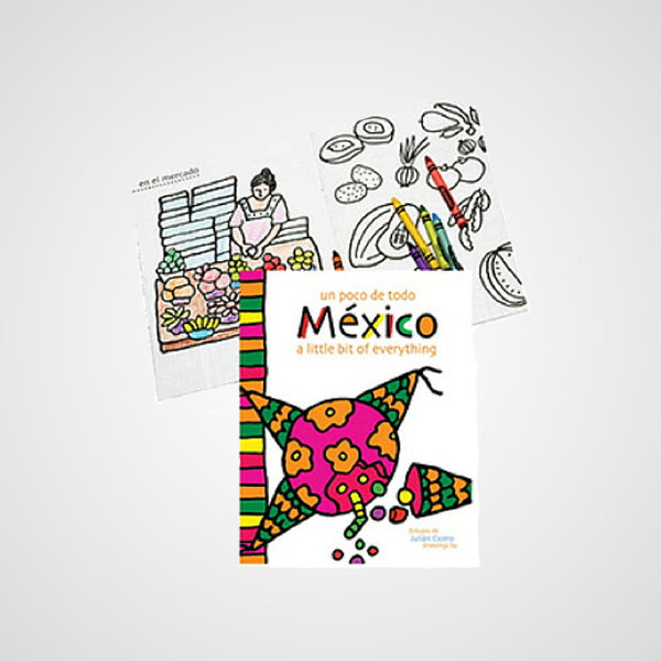 Coloring Book a Bit of Mexico. Explore Culture and Traditions