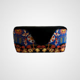 Eyewear leather case - traditional Huichol design, women accessories made in Mexico