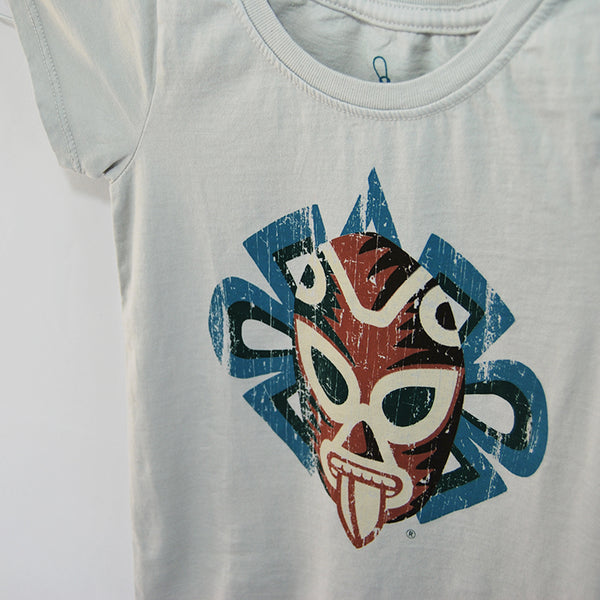 T-Shirt Jaguar Luchador Gray U Neck for Kids,  Jaguar who represents the God of War & Sun, Day & Night and Light & Dark all are considered Symbols of Braveness and Power and merged a fusion of legendary warriors.