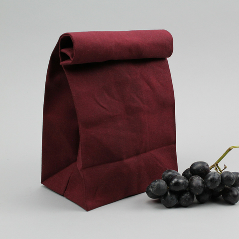 Lunch-Bag Vintage Classic Burgundy