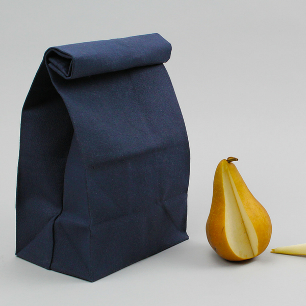 Lunch Bag, vintage classic, waxed canvas