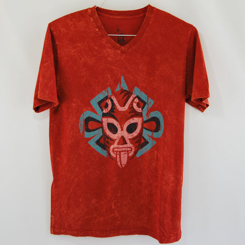 T-Shirt Luchador Red V Neck for Men