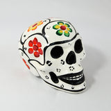 Handcrafted Ceramic Mexican Sugar Skull White