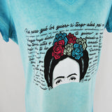 T-Shirt Frida Kahlo Blue for Women