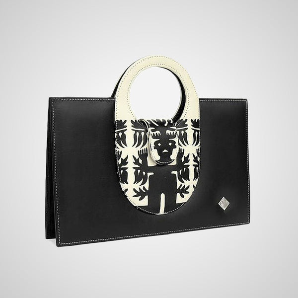Handmade leather handbag, made in mexico by independent designer,