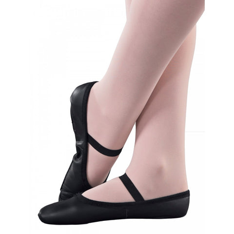 1st Position Black Leather Ballet Shoes | Dazzle Dancewear Ltd
