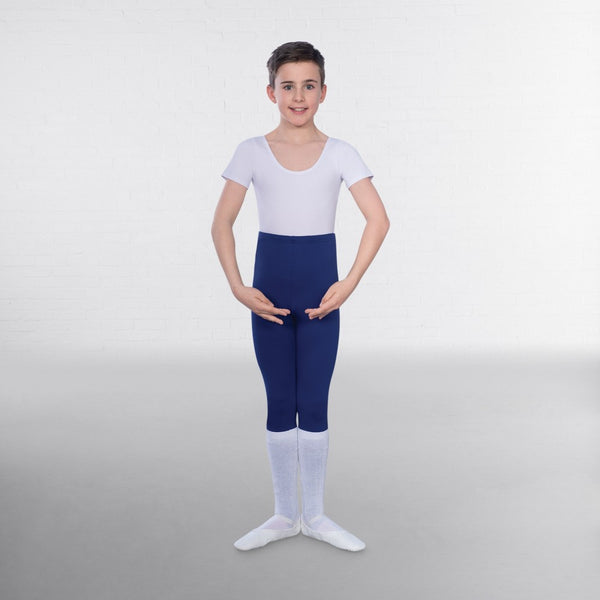 1st Position Male Short Sleeve Scoop Neck Leotard - Dazzle Dancewear Ltd