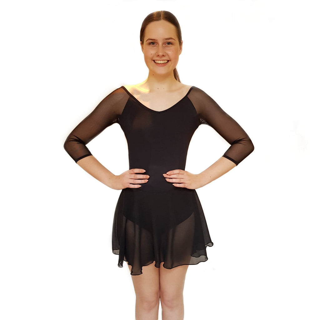 Black Wrapover Skirt - Dazzle Dancewear Ltd