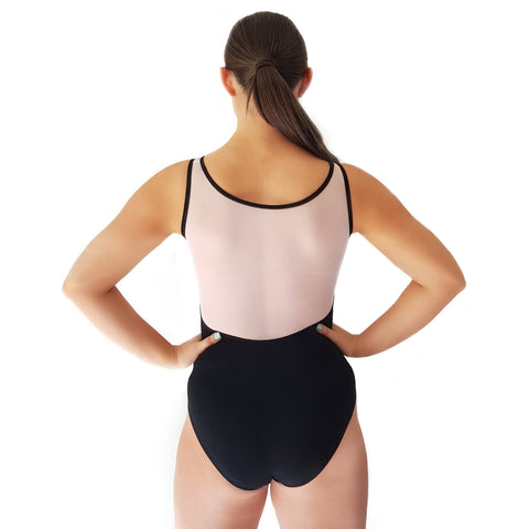 - Dazzle Dancewear White Mesh Back Leotard