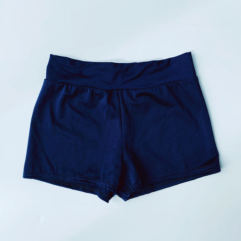 Navy Blue Lycra Dance Shorts | Dazzle Dancewear Ltd