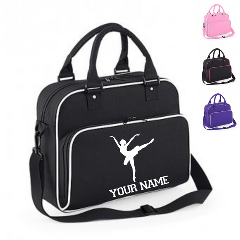 Personalised 'Arabesque Ballerina' Ballet Dance Bag - Dazzle Dancewear Ltd