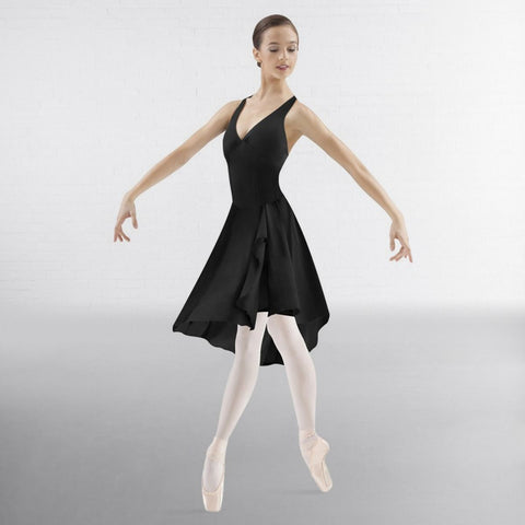 Bloch M1018 Asymmetrical Hem Halter Dress  | Dazzle Dancewear Ltd