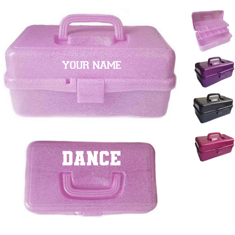 Personalised 'DANCE' Performance Dance Accessories Storage Box - Dazzle Dancewear Ltd