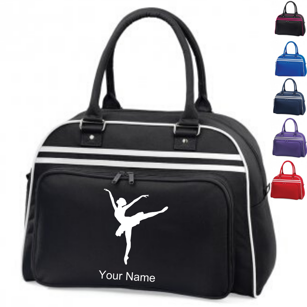 Personalised 'Arabesque Ballerina' Large Dance Bag - Dazzle Dancewear Ltd