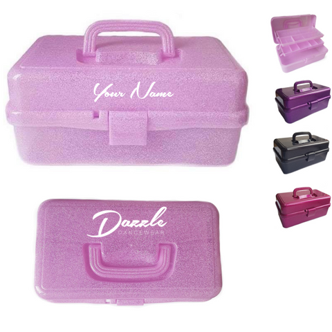 Personalised 'Dazzle Dancewear' Performance Dance Accessories Storage Box - Dazzle Dancewear Ltd