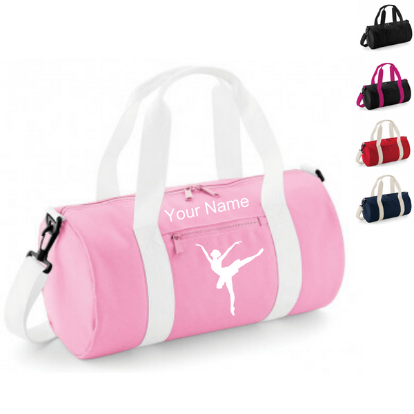 Personalised 'Arabesque Ballerina' Barrel Bag - Dazzle Dancewear Ltd