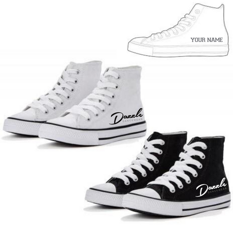Personalised 'Dazzle Dancewear' Hightops - Dazzle Dancewear Ltd