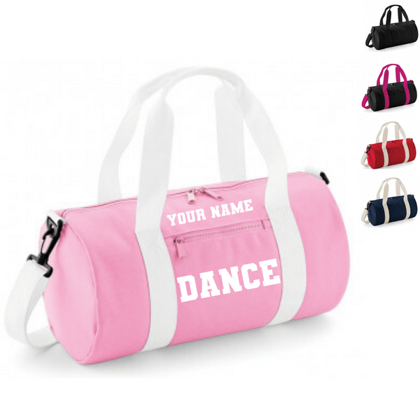 Personalised 'Dance' Barrel Bag - Dazzle Dancewear Ltd