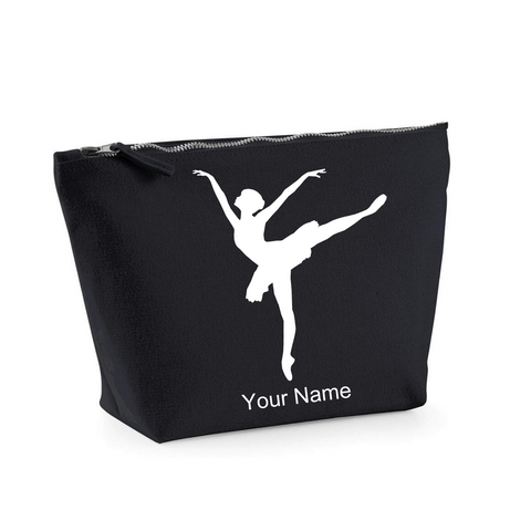 Personalised 'Arabesque Ballerina' Makeup Bag - Dazzle Dancewear Ltd