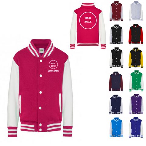 Personalised 'Design Your Own' Varsity Jacket- Child - Dazzle Dancewear Ltd