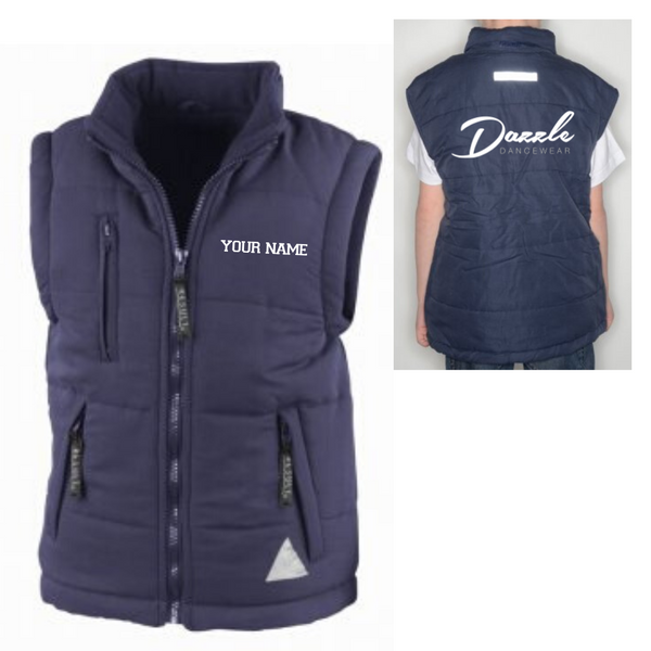 Personalised 'Dazzle Dancewear' Gilet- Adult - Dazzle Dancewear Ltd