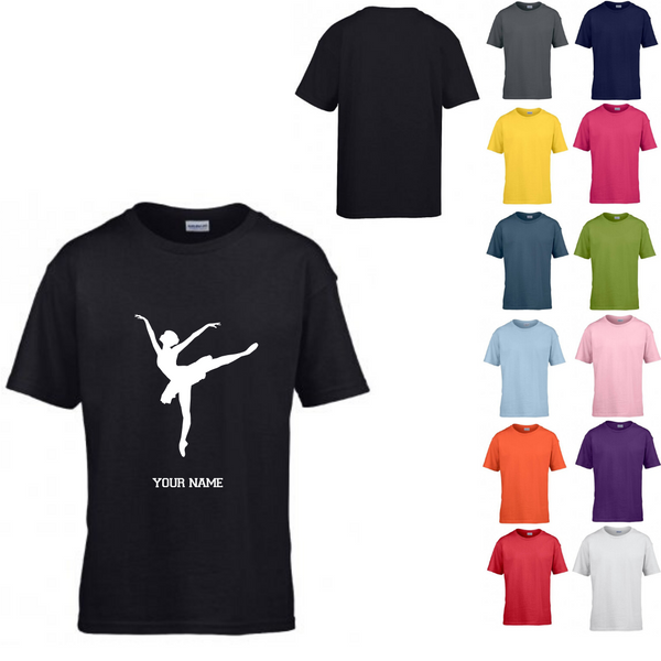 Personalised 'Arabesque Ballerina' T-shirt - Child - Dazzle Dancewear Ltd