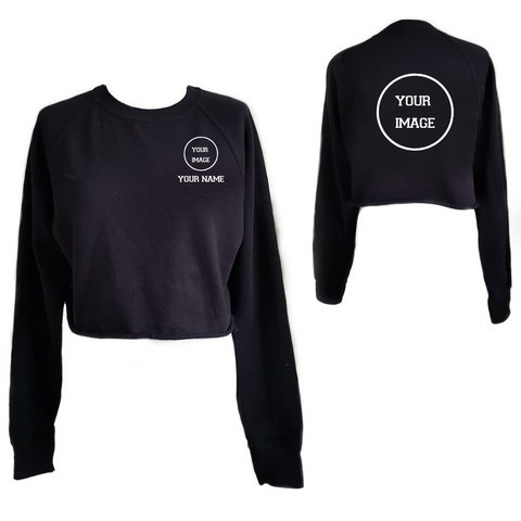 Personalised 'Design Your Own' Cropped Sweatshirt- Adult - Dazzle Dancewear Ltd