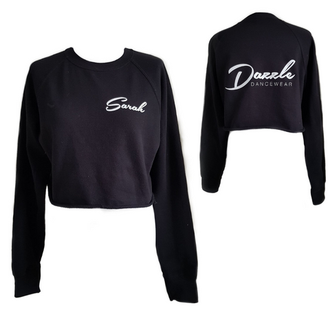 Personalised 'Dazzle Dancewear' Cropped Sweatshirt- Adult - Dazzle Dancewear Ltd