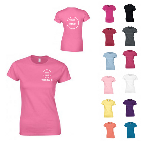 Personalised 'Design Your Own' T-shirt - Ladies Fit