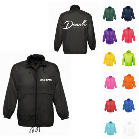 Personalised 'Dazzle Dancewear' Rain Mac- Adult - Dazzle Dancewear Ltd