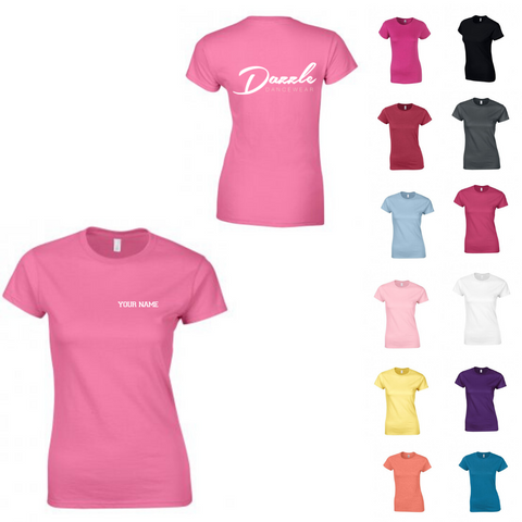Personalised 'Dazzle Dancewear' T-shirt - Ladies Fit - Dazzle Dancewear Ltd