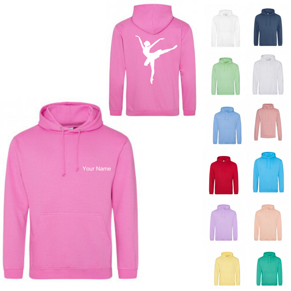 Personalised 'Arabesque Ballerina' Hoody- Adult - Dazzle Dancewear Ltd