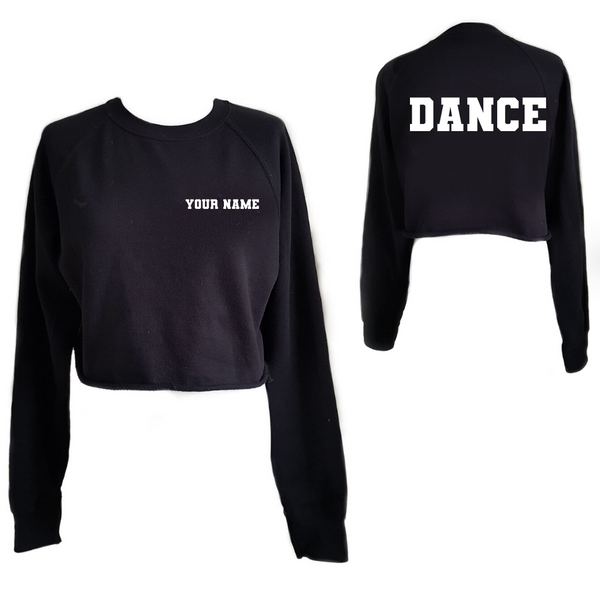 Personalised 'Dance' Cropped Sweatshirt- Child - Dazzle Dancewear Ltd