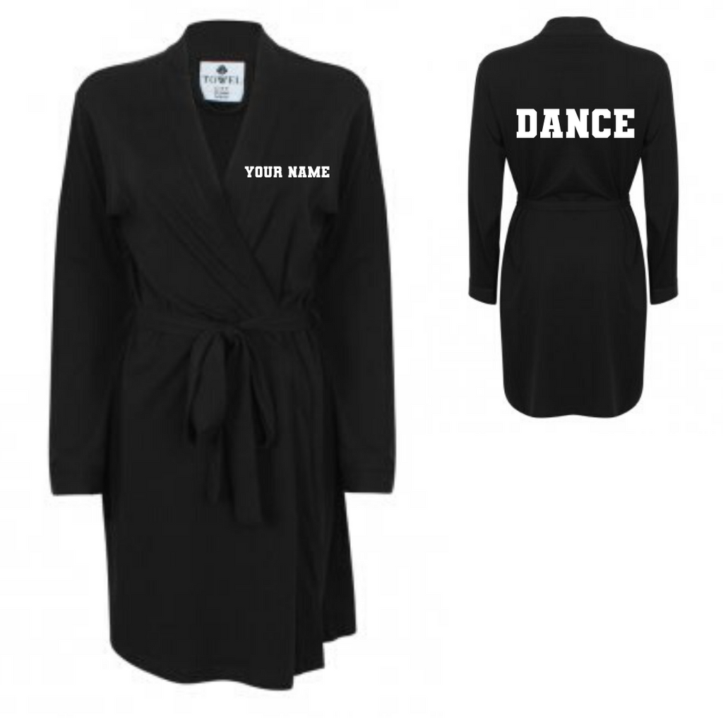 Personalised 'Dance' Dressing Gown - Dazzle Dancewear Ltd