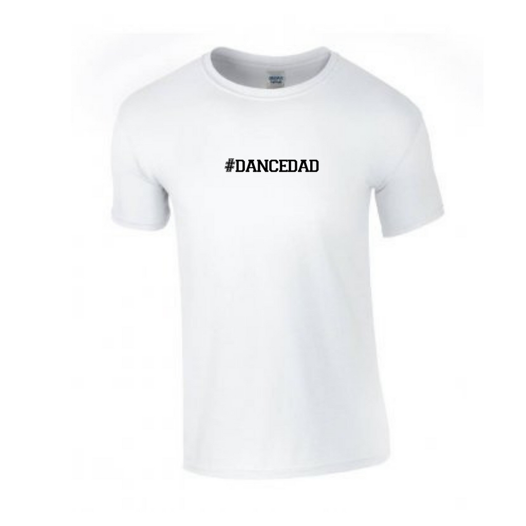 '#dancedad' White Slogan T-shirt - Adult - Dazzle Dancewear Ltd