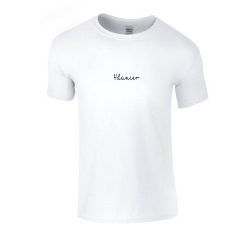'#Dancer' White Slogan T-shirt - Adult - Dazzle Dancewear Ltd