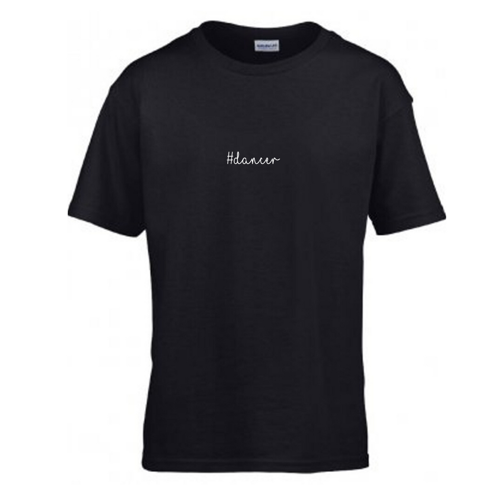 '#Dancer' Black Slogan T-shirt - Child - Dazzle Dancewear Ltd
