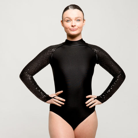 Black Sequin Sleeves on Collar - Costume Add On | Dazzle Dancewear Ltd