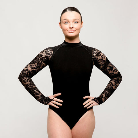 Black Lace Sleeves on Collar - Costume Add On | Dazzle Dancewear Ltd
