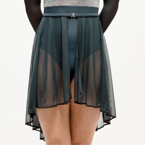 Slate Grey Sheer Mesh Lyrical Skirt - Dazzle Dancewear Ltd
