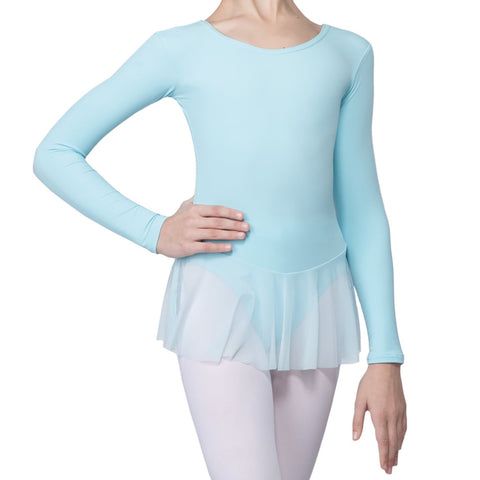 Grishko LIGHT PINK Long Sleeved Leotard with Skirt - Dazzle Dancewear Ltd